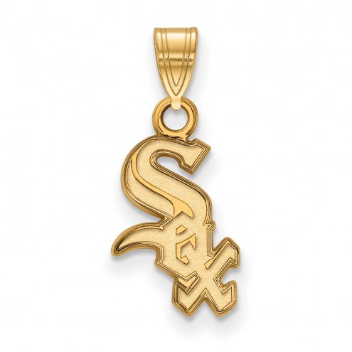 Chicago White Sox Sterling Silver Gold Plated Small Pendant