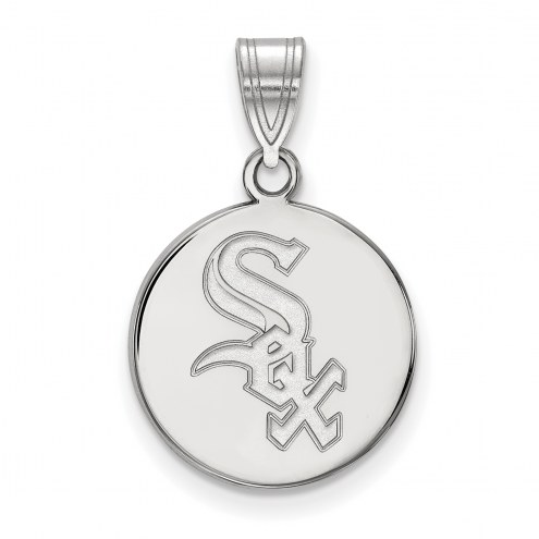 Chicago White Sox Sterling Silver Medium Disc Pendant