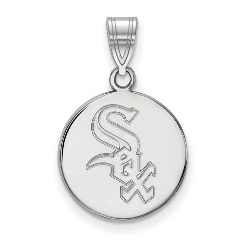 Chicago White Sox Sterling Silver Medium Disc Pendant