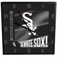 Chicago White Sox Team Black Square Clock