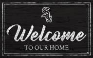 Chicago White Sox Team Color Welcome Sign