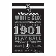 Chicago White Sox Established Wood Sign