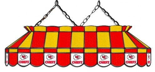 "Kansas City Chiefs NFL Team 40"" Rectangular Stained Glass Shade"