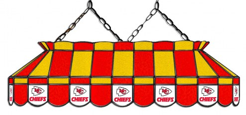 "Kansas City Chiefs NFL Team 40"" Rectangular Stained Glass Shade"
