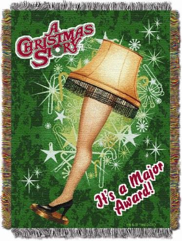 Christmas Story Holiday Lamp Throw Blanket