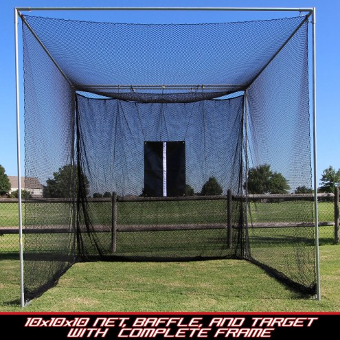 Cimarron 10x10x10 Masters Golf Net with Complete Frame