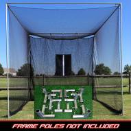 Cimarron 10x10x10 Masters Golf Net with Frame Kit
