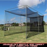 Cimarron 20x10x10 Masters Golf Net with Complete Frame