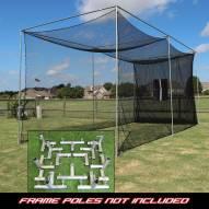 Cimarron 20x10x10 Masters Golf Net with Frame Kit