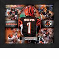 Cincinatti Bengals Personalized 11 x 14 Framed Action Collage
