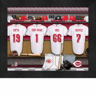 Cincinatti Reds  Personalized Locker Room 11 x 14 Framed Photograph