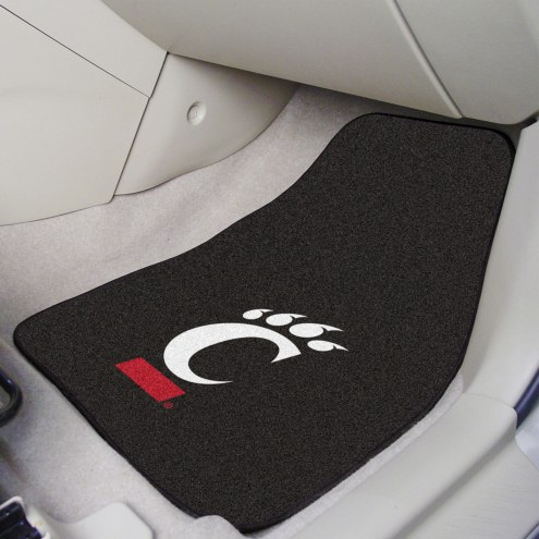 Cincinnati Bearcats 2-Piece Carpet Car Mats