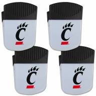 Cincinnati Bearcats 4 Pack Chip Clip Magnet with Bottle Opener