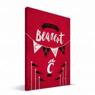 "Cincinnati Bearcats 8"" x 12"" Little Man Canvas Print"