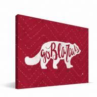 """Cincinnati Bearcats 8"""" x 12"""" Mascot Canvas Print"""