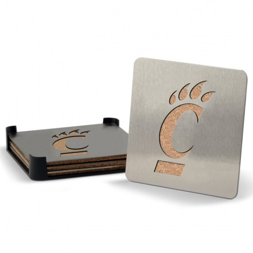 Cincinnati Bearcats Boasters Stainless Steel Coasters - Set of 4