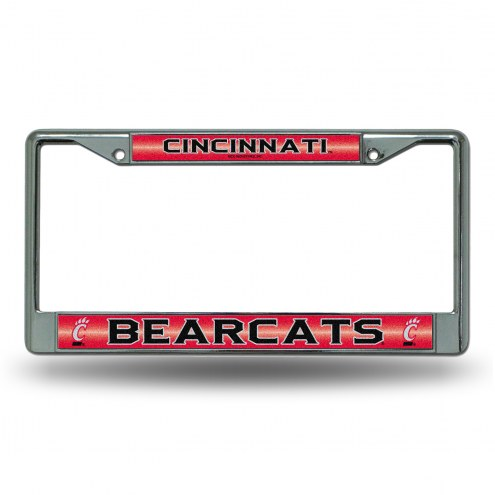 Cincinnati Bearcats Chrome Glitter License Plate Frame