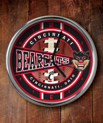 Cincinnati Bearcats Chrome Wall Clock