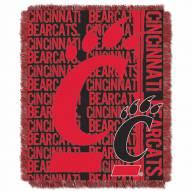 Cincinnati Bearcats Double Play Woven Throw Blanket