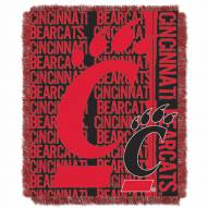 Cincinnati Bearcats Double Play Woven Throw Blanket