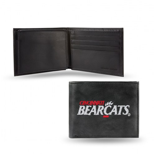 Cincinnati Bearcats Embroidered Leather Billfold Wallet
