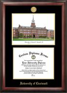 Cincinnati Bearcats Gold Embossed Diploma Frame with Lithograph