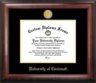 Cincinnati Bearcats Gold Embossed Diploma Frame