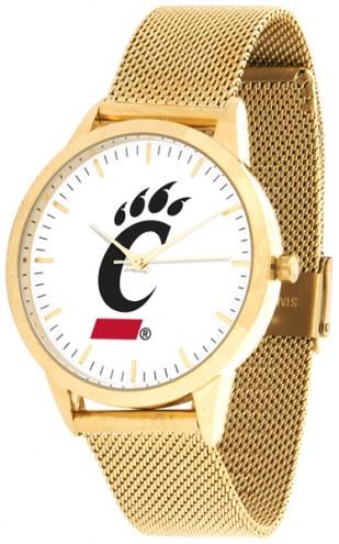 Cincinnati Bearcats Gold Mesh Statement Watch