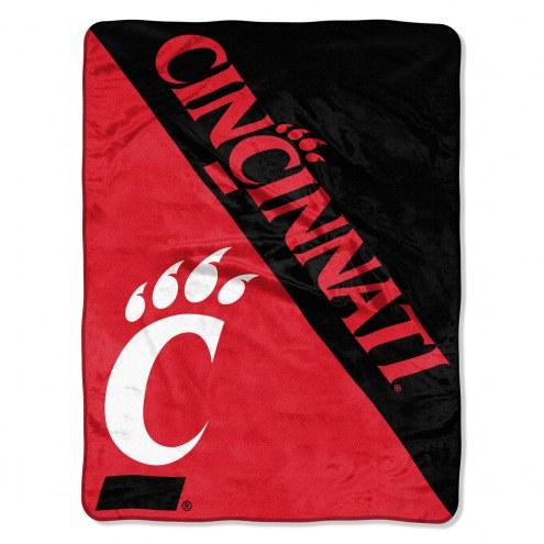 Cincinnati Bearcats Halftone Raschel Blanket