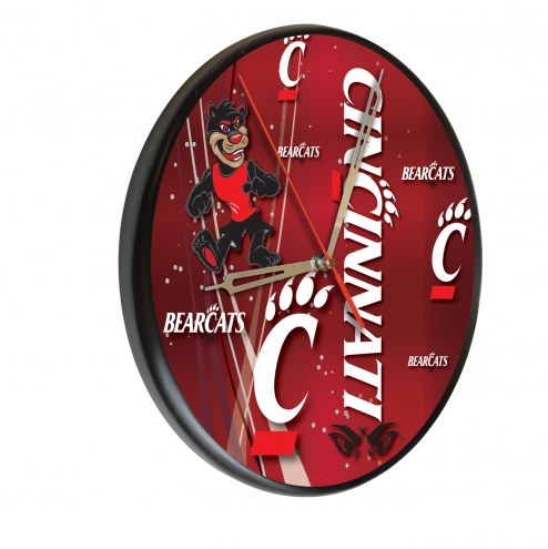 Cincinnati Bearcats Digitally Printed Wood Clock