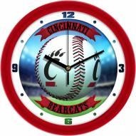 Cincinnati Bearcats Home Run Wall Clock