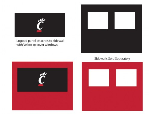 Cincinnati Bearcats Logo Canopy Sidewall Panel (Attaches to Window Sidewall)