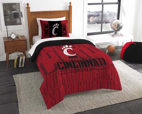 Cincinnati Bearcats Modern Take Twin Comforter Set