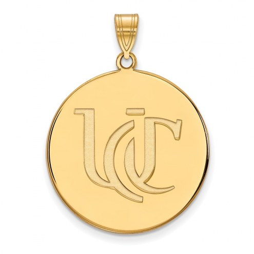 Cincinnati Bearcats NCAA Sterling Silver Gold Plated Extra Large Disc Pendant