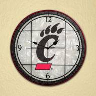 Cincinnati Bearcats NCAA Stained Glass Wall Clock