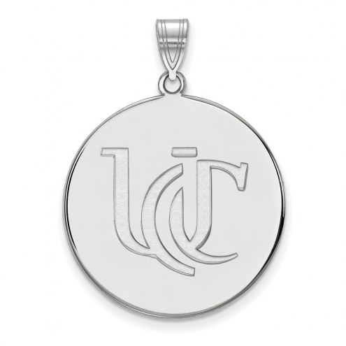 Cincinnati Bearcats NCAA Sterling Silver Extra Large Disc Pendant