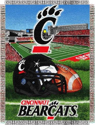 Cincinnati Bearcats NCAA Woven Tapestry Throw Blanket