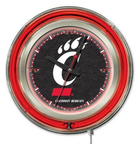 Cincinnati Bearcats Neon Clock