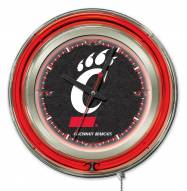 Cincinnati Bearcats Neon Clock