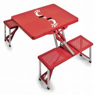 Cincinnati Bearcats Red Folding Picnic Table