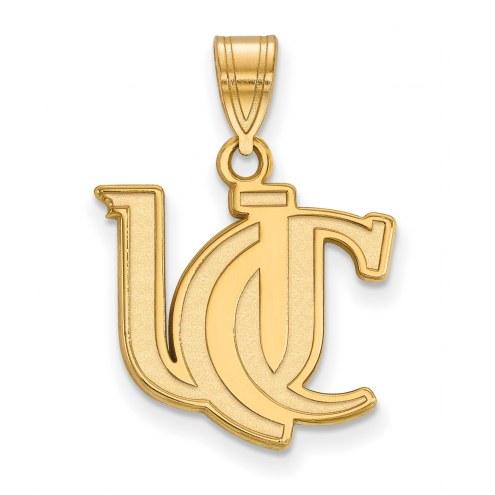Cincinnati Bearcats Sterling Silver Gold Plated Medium Pendant