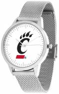 Cincinnati Bearcats Silver Mesh Statement Watch