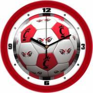 Cincinnati Bearcats Soccer Wall Clock