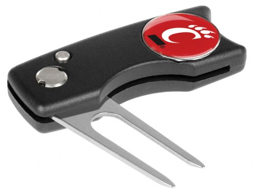 Cincinnati Bearcats Spring Action Golf Divot Tool
