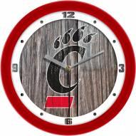 Cincinnati Bearcats Weathered Wood Wall Clock
