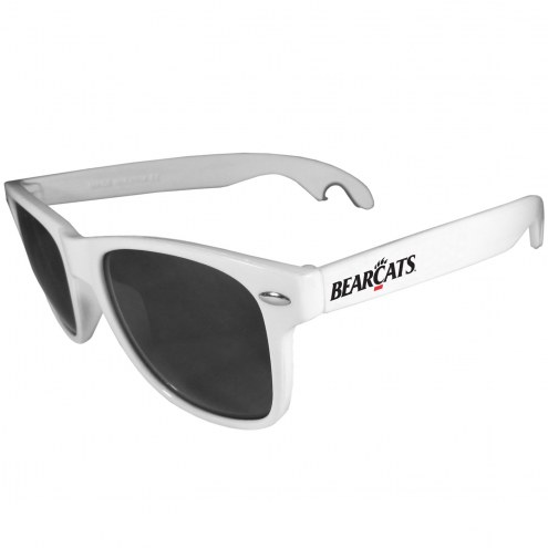 Cincinnati Bearcats White Beachfarer Bottle Opener Sunglasses