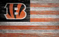 "Cincinnati Bengals 11"" x 19"" Distressed Flag Sign"