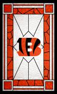 "Cincinnati Bengals 11"" x 19"" Stained Glass Sign"