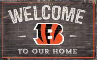 "Cincinnati Bengals 11"" x 19"" Welcome to Our Home Sign"