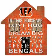 "Cincinnati Bengals 12"" House Sign"